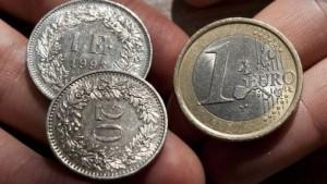 franc elvetian euro