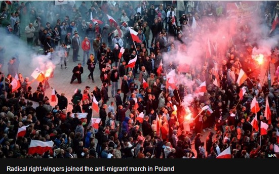 demonstratii impotriva refugiatilor polonia