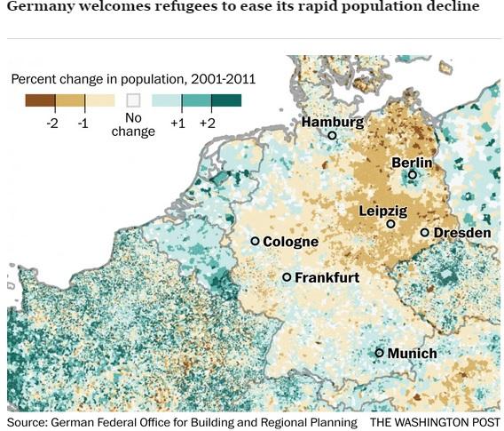 germania refugiati populatie