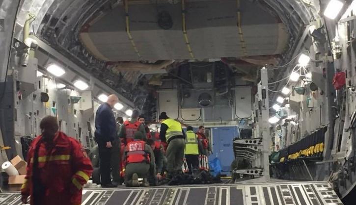 avion nato raniti incendiu