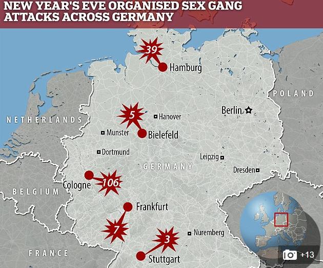harta germania agresiuni sexuale