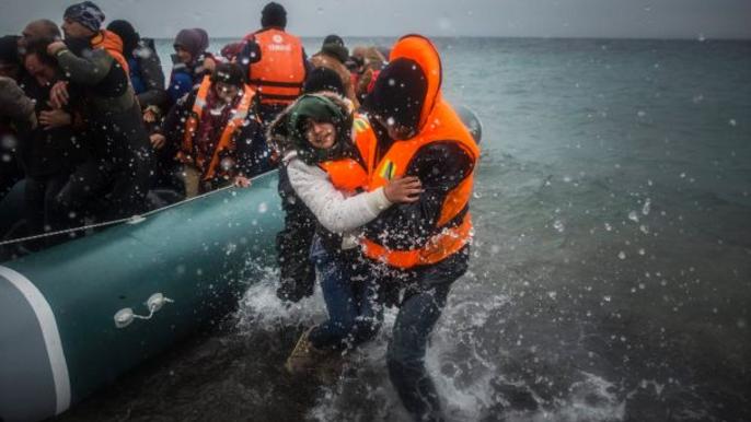 refugiati barci grecia