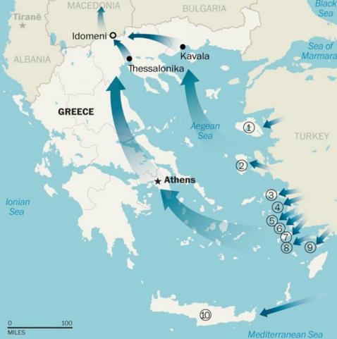 refugiati rute turcia grecia