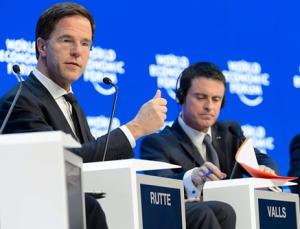 rutte valls forum davos