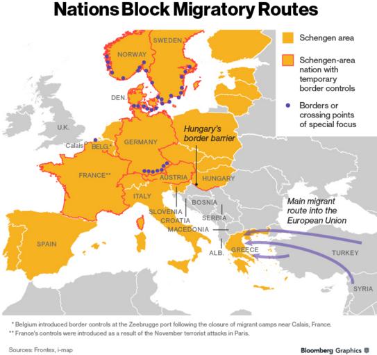 rute migratorii ue turcia bloomberg