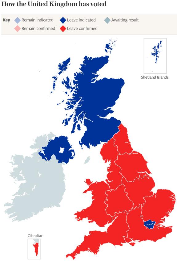Scotland EU referendum results