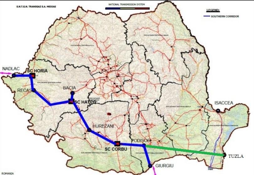 Gazoductul de la Marea Neagrăși conexiunea la BRUA