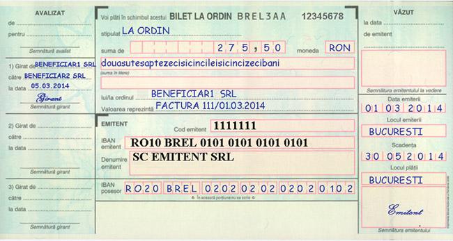 bilet la ordin de tranzacționare ce este)