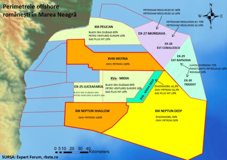 Romanian offshore Black Sea perimeters