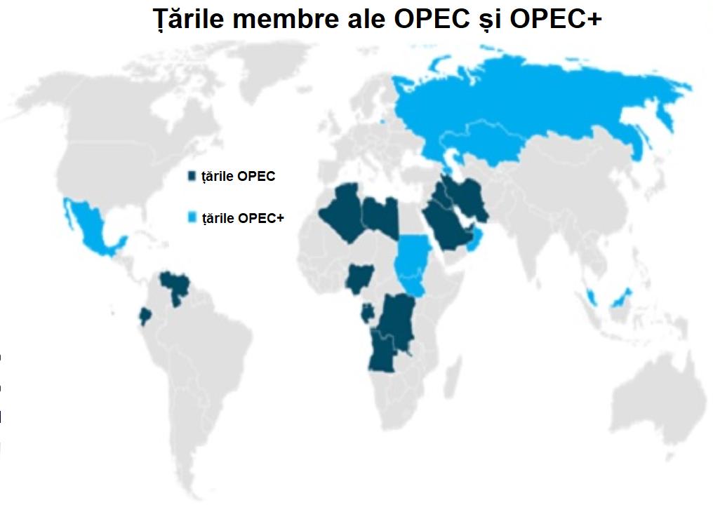 Țările producătoare de petrol OPEC